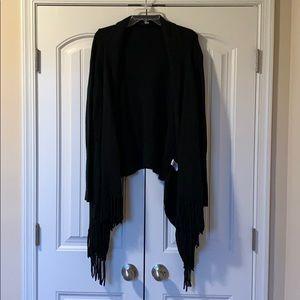 Black fringe sweater